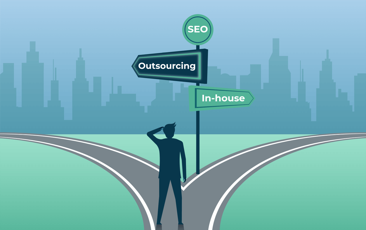 outsourcing vs inhouse for seo staff
